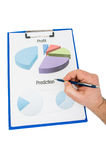 Financial charts regarding profit and marketing prediction Stock Images