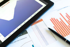 Financial charts Royalty Free Stock Photo