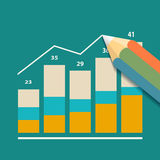Financial charts. Stock illustration. Royalty Free Stock Photography