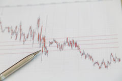 Financial charts Stock Photo