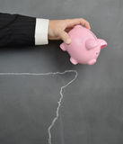 Financial cliff Stock Photo