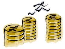 Financial coin cartoon. Financial cartoon Stock Photo