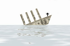 financial collapse Royalty Free Stock Photography
