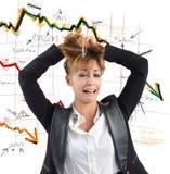 Financial collapse Royalty Free Stock Photos