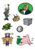 Financial collection. Cartoon vector illustration of a financial collection Royalty Free Stock Photos