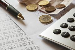Financial composition Royalty Free Stock Photography