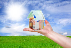 Financial concept. On nature background Stock Photography
