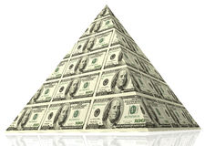 Financial concept. Abstract money pyramid - financial concept Royalty Free Stock Photo