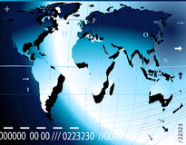Financial concept. With world map Stock Illustration