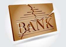 Financial concept - bank failures Stock Images