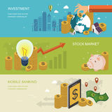 Financial concept banner. In 3d isometric flat design Stock Photo
