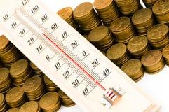 Financial concept - checking the temperature Stock Photos