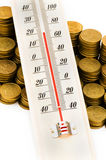 Financial concept - checking the temperature Stock Image
