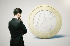 Financial concept euro light Stock Image