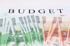 Financial concept. euro money. Financial concept and the budget concept, euro currency Royalty Free Stock Photography