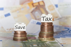 Financial concept about high taxes Royalty Free Stock Image
