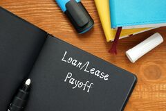 Financial concept about Loan/Lease Payoff with phrase on the piece of paper