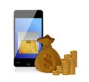 Financial Concept Make Money. Illustration design over white Royalty Free Stock Photo