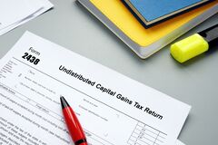 Financial concept meaning Form 2438 Undistributed Capital Gains Tax Return with phrase on the page