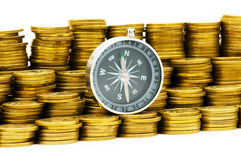 Financial concept - navigating. In difficult times for markets Stock Image