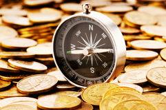 Financial concept - navigating in difficult times. For markets Stock Photography