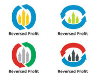 Financial concept. Reversed profit sign Royalty Free Stock Images
