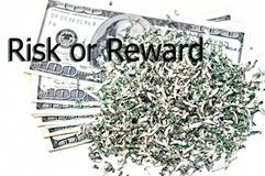 Financial Concept/Risk or Reward stock image