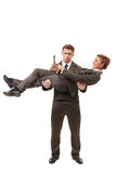Financial concept of teamwork and support Stock Photography