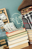 Financial concept. Unusual education financial concept. Time it is money Stock Photo