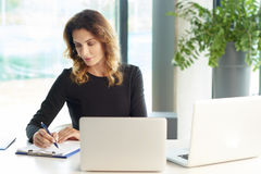 Financial consultant at work Royalty Free Stock Photo
