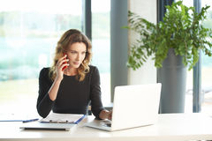 Financial consultant at work Royalty Free Stock Image