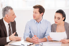 Financial consultation. Royalty Free Stock Photography