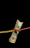 Financial control. This tied money show about financial control Stock Photo