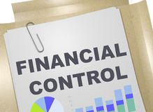 FINANCIAL CONTROL concept. 3D illustration of FINANCIAL CONTROL title on business document Royalty Free Stock Photo