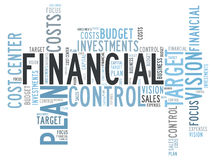 Financial control Stock Image