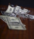 Financial crash Royalty Free Stock Image
