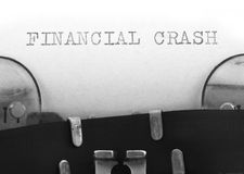 Financial crash concept Royalty Free Stock Photography