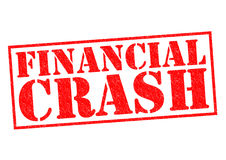 FINANCIAL CRASH. Red Rubber Stamp over a white background Stock Photography