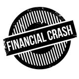 Financial Crash rubber stamp. Grunge design with dust scratches. Effects can be easily removed for a clean, crisp look. Color is easily changed Stock Photos