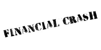 Financial Crash rubber stamp. Grunge design with dust scratches. Effects can be easily removed for a clean, crisp look. Color is easily changed Royalty Free Stock Images