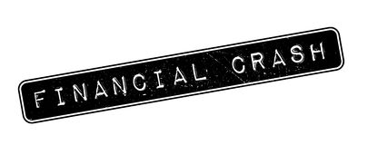 Financial Crash rubber stamp. On white. Print, impress, overprint Royalty Free Stock Photography