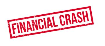 Financial Crash rubber stamp. On white. Print, impress, overprint Stock Photography