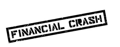 Financial Crash rubber stamp. On white. Print, impress, overprint Royalty Free Stock Photos