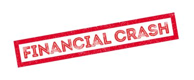 Financial Crash rubber stamp. On white. Print, impress, overprint Stock Photo