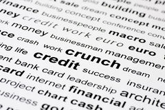 Financial credit crunch Royalty Free Stock Image