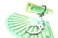 Financial crime concept Royalty Free Stock Photos