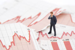Financial crisis Stock Image