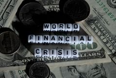 Financial crisis Royalty Free Stock Photos