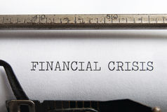 Financial crisis Stock Image