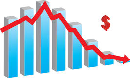 Financial Crisis. Bar chart representing financial crisis Stock Photography